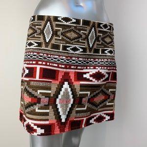 ZARA TRAFALUC Aztec Print Skirt